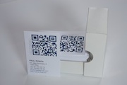 Cartes de visite produites en imprimerie
