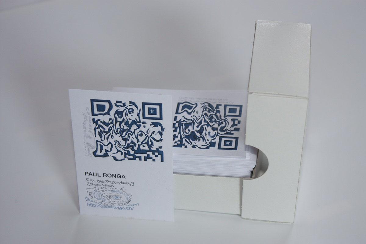 Carte De Visite Produite En Imprimerie